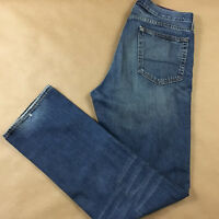 J CREW Mens Straight Leg Made In Canada Blue Jeans Tag Size 32x34