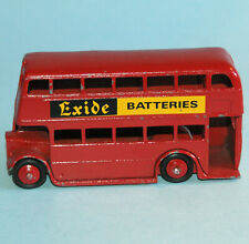 DINKY Meccano England 1948 DOUBLE DECKER BUS #29c restored red EXIDE BATTERIES