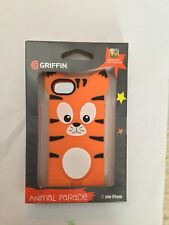 GRIFFIN - iPHONE - 5S - ANIMAL - PARADE - ORANGE - TIGER - CASE - NEW - FREE APP