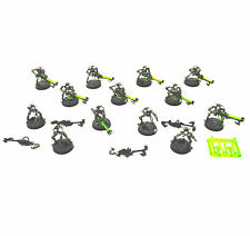 NECRONS 13 Warriors 9 VERY well painted, 4 unfinished Plastic Warhammer 40k FK