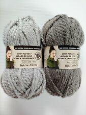 New ListingLoops & Threads Lush Alpaca Yarn Lot of 2 Gray Silver Super Bulky Chunky