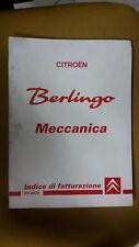 Manuale Originale CITROEN BERLINGO MECCANICA INDICE DI FATTURAZIONE Tempario