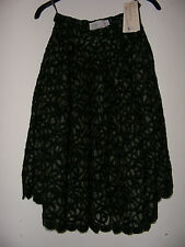 WOMEN's MARC CAIN LACE FLARED SKIRT MADE IN GERMANY SIZE UK 2, EU 30, US 00