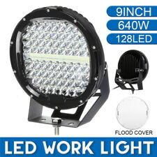 """640W 9"""" inch Round Led Spot Flood Driving Work Light Offroad Truck 4X4WD Bumper"""