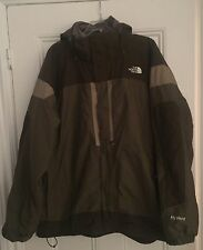 Authentic The North Face HyVent mens jacket coat olive beige rare vintage XXL