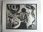 """Pierre Alechinsky, Engraving,""""Au Fils du Bois"""",Hand Signed, Numbered, Arches '73"""