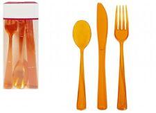 luxury  plastic colour cutlery sets Disposable or Washable Reusable(18 & 36 set