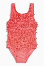 ВNWT NEXT Girls' Kids Costume • Coral 3D Swimsuit • 100% Polyester • 3-4 Years