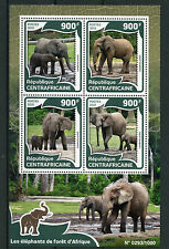 Central African Republic 2016 MNH African Forest Elephants 4v M/S Wild Animals