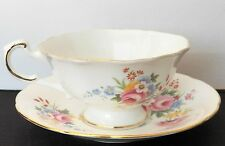 Vintage Collectible By Roslyn Fine Bone China Teacup & Saucer Made In England