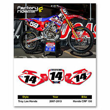 2007-2016 CRF 150 R Number Plate Graphics Dirt Bike TLD Style By Enjoy MFG