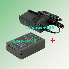 Battery + AC/DC Charger For BLN-1 BLN1 Olympus OM-D OMD E-M5 EM5 + Car charger