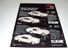 W/3/13/1 Spielzeug Blechspielzeug Katalog Prospekt Märklin Marken-Set von Ford