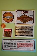 Briggs Stratton Jacobsen 10-hp decal set Simplicity