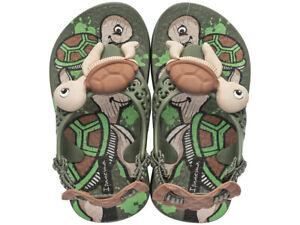 Ipanema Sea Baby Turtle Infant Sandals - Green