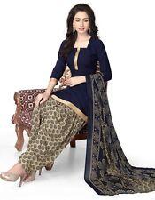 Elegant Crepe Designer Printed Patiala Unstitched Dress Material Suit.No RE4513