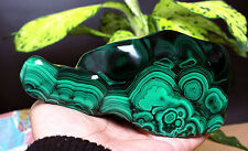 994g Polished Malachite Display Specimen/Rough,Congo -great banding Zambia