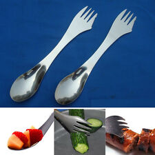 New Metal Convenient Outdoor Camping Spoon Fork Cutter Spork 3 in 1