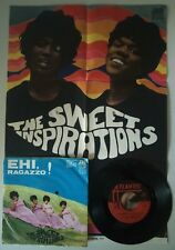 The Sweet Inspirations ‎– Baci Baci Baci 45 giri Italian Issue con poster
