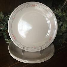 Corelle Rose10.25 Inch Dinner Plates Set Of 5 Beige Gray Peach Vintage EUC