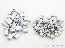 50 Ferrule 3/32 Double Barrel Aluminum Cable Snare Wire Swage +50 Line Stop End