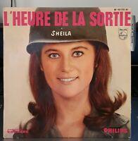 VINYL 45 Trs./..SHEILA../..L'HEURE DE LA SORTIE../..13 éme DISQUE....Languette..