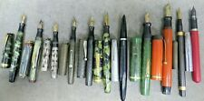 34 VINTAGE WRITING INSTRUMENTS, FOUNTAIN WATERMAN, PARKER, SHEAFFER STERLING 14K