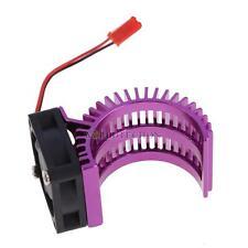 HSP Part Model Car Aluminum Purple Heat Sink+ Fan Cooling 540/550 RC Motor 7014