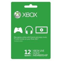Xbox One/360 12 Month 1 Year Gold Prepaid Membership Code Card