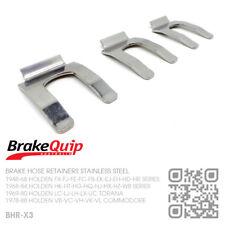 BRAKE HOSE CLIPS STAINLESS STEEL X3 [HOLDEN EJ-EH-HD-HR UTE/VAN/SEDAN/WAGON/X2]