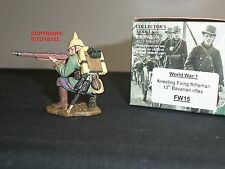 KING AND COUNTRY FW15 WORLD WAR ONE GERMAN 13TH BAVARIAN RIFLES KNEELING FIRING