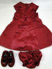 Gymboree Wine colored Holiday Dress size 2, Diaper Cover and Shoes Size 7
