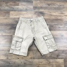 Levi's Cargo Shorts Men's Size 29 Distressed Rugged Beige Shorts Red Tab Levis