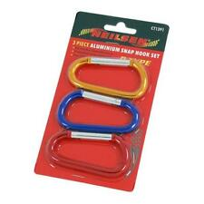 BRAND NEW 3PC 8CM CARABINER CLIP SNAP SPRING HOOK KEYRING BUCKLE CAMPING D TYPE
