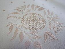 Tischdecke eingewebtes Muster Baumwolle Damast Spitze Blume 3,1x1,5 rosa K7