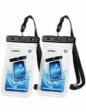 Clear Waterproof Phone Case with Sling Compatible for Most Phones (2-Pack)