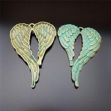 Vintage Bronze Alloy Angle Wings Heart Shape Charms Pendant Fashion Jewelry 6PCS