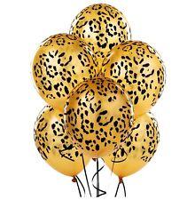 Leopard Spot Print Balloons x 6 Safari Zoo Jungle Farm Animal party decoration
