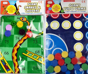 GIANT! Ludo Snakes & Ladders Mat Games Family Fun Kids Activity Toys Gift