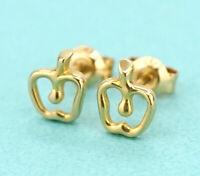 TIFFANY&Co Apple Stud Earrings Peretti 18K Yellow Gold