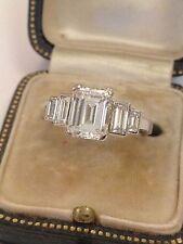 Emerald Platinum Fine Diamond Rings