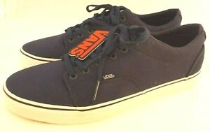 New VANS Kress Size 13 M Dark Blue With White Authentic Sneakers RETAIL $49.99