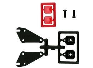 RPM 81030 - Tail Light Set, Plastic, Black/Red, Traxxas Slash