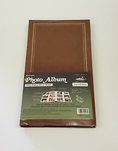 Pioneer Post Bound Photo Fold Out Page Album Brown Holds108 4x6 Photos
