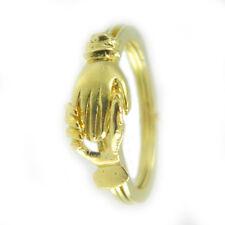 Anello fede sarda Maninfide in oro giallo Artigianato sardegna realizzato a mano