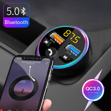 More details for bluetooth 5.0 car fm transmitter handsfree wireless mp3 player 2 usb charger un