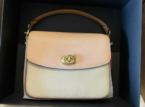 Coach Cassie 19 Crossbody in Colorblock B4/Ivory Blush Multi NWT 89088 AUTHENTIC