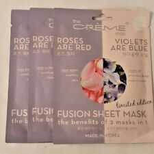 3x The Creme Shop Facial Sheet Mask Roses Are Red Violets Are Blue (Exp.2022)