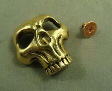 Solid Brass Leathercraft Skull rivet stud Punk screw bag Conchos Wallet buckle