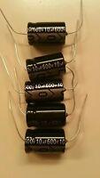 Valve Radio 10x 10uf 600-volt electrolytic capacitors. 650 volt surge capacity.